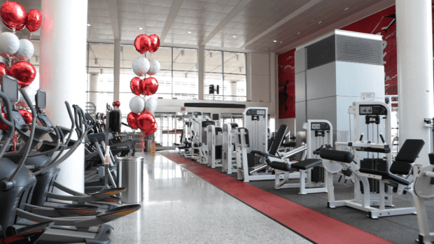 Toronto Pearson International Airport gym