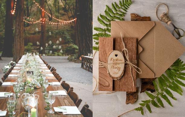 從喜帖、婚宴紀念品等小細節開始著手設計,讓妳的婚禮風格獨「樹」一格。