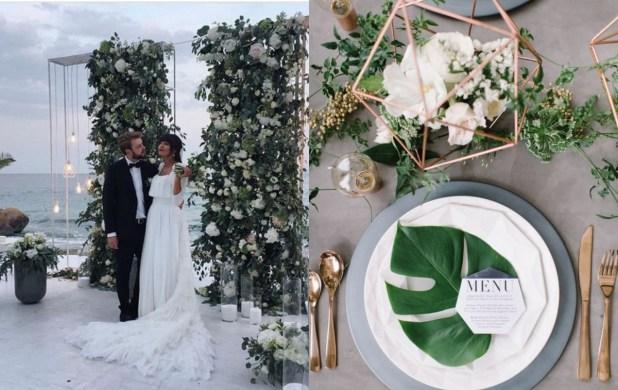 善用幾何、線條元素,讓賓客感受一場最具時尚感的婚禮。