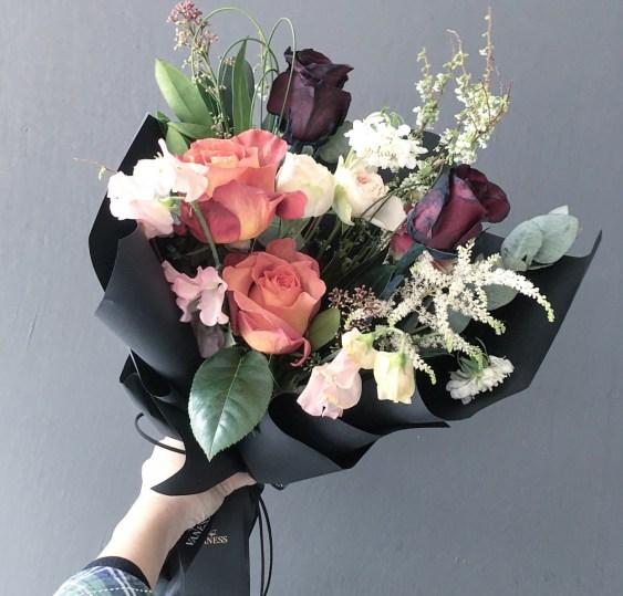 Lecia 於 2018 年初至韓國進修時的花束作品