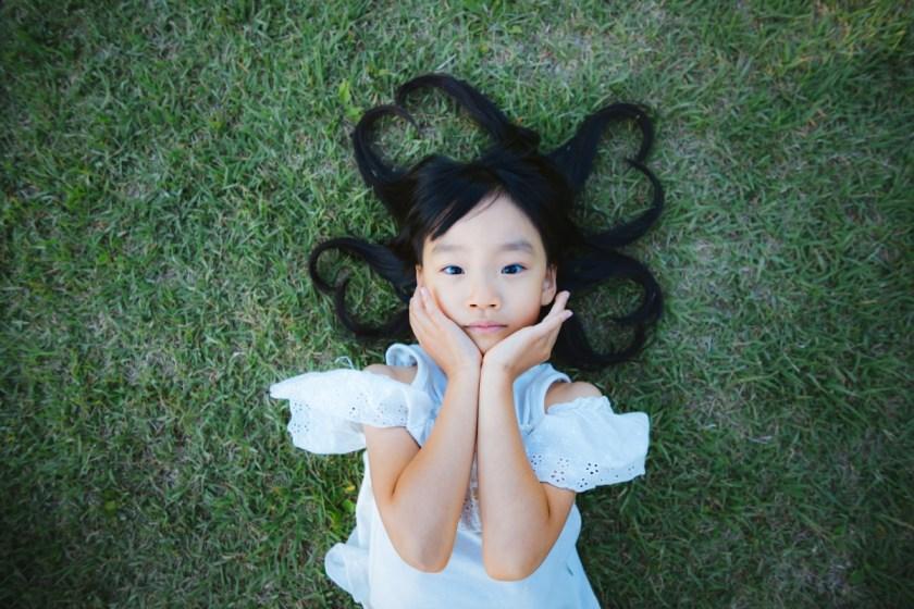 child grass