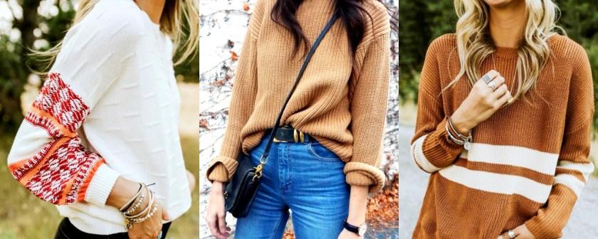 高挑的女孩可以試試看穿 Oversize 的毛衣,不會被毛衣吃掉!