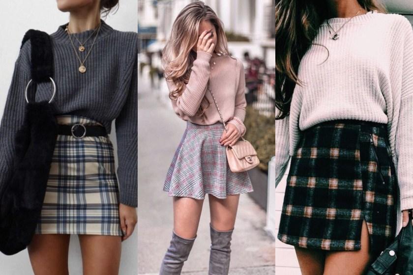 那麼選擇低調的灰色系格紋,搭配素色毛衣,絕對讓你免去煩惱!簡約款式的上、下著不管怎麼搭,都不會退流行。