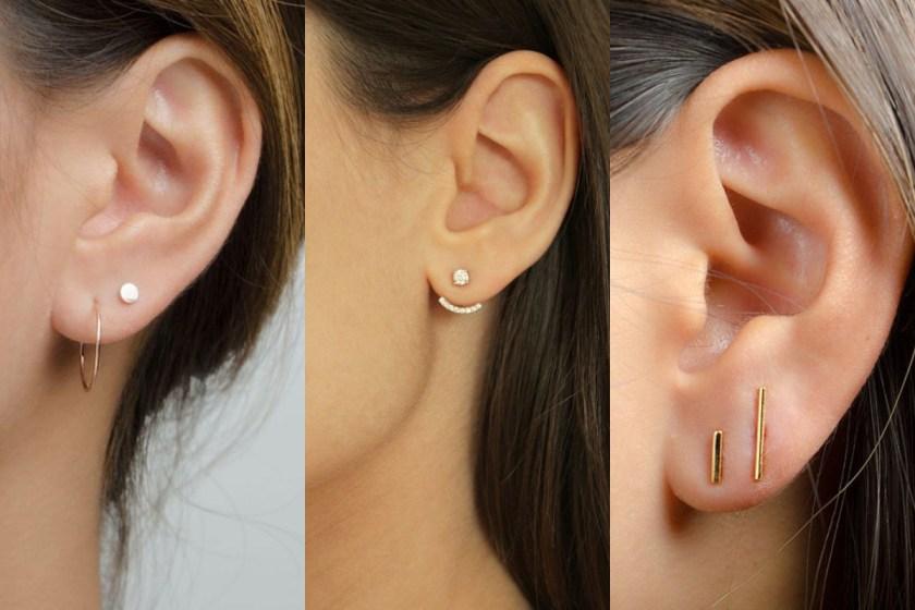 有別於一些浮誇、「面積」比較大的耳環,小耳環有一種簡單、低調的可愛。
