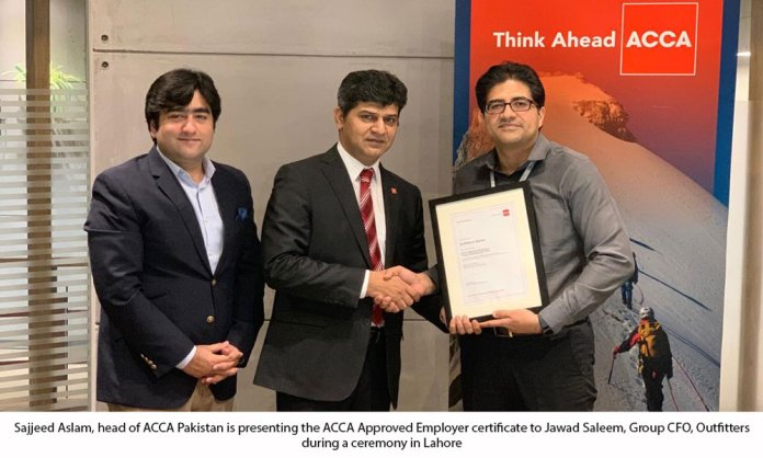 Outfitters attains ACCA Approved Employer Status