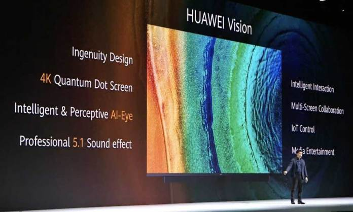 Huawei Vision 4K TV announced with pop-up camera