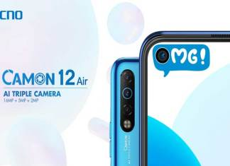 TECNO Camon 12 Air with Al triple Camera and Ultra-Wide angel lens for Photographers