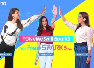 TECNO's new TikTok Challenge # GiveMe5WithSpark5 celebrities are revealed!
