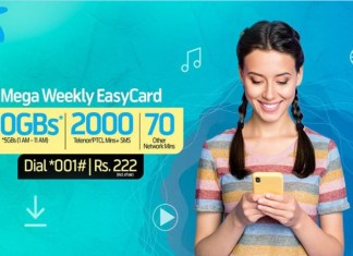 With Telenor Mega Weekly Easycard get these incentives