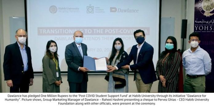Dawlance pledges One Million Rupee grant for Habib University