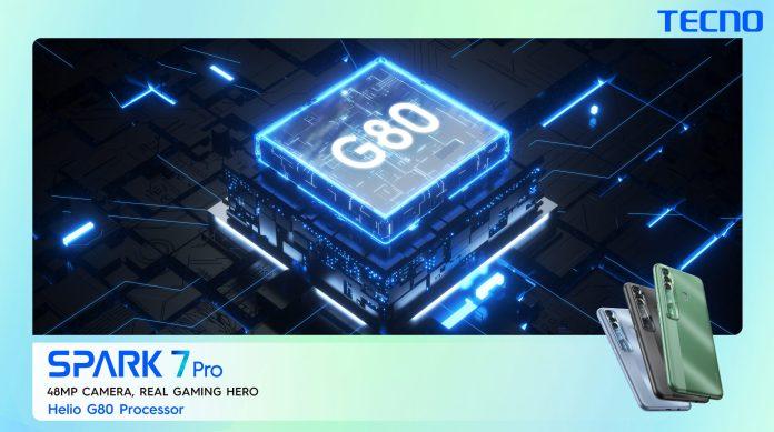 tecno spark 7 MediaTek Helio G80