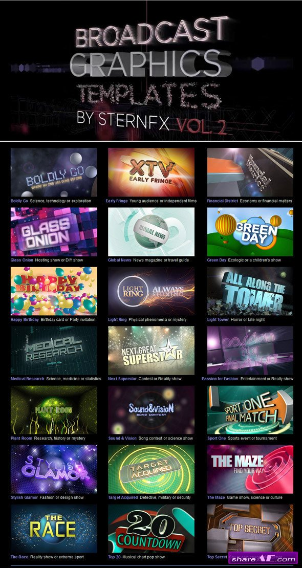 After Effects Project Templates  enthusiast april 12 2016
