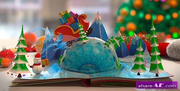 Christmas Pop Up Book After Effects Project Videohive