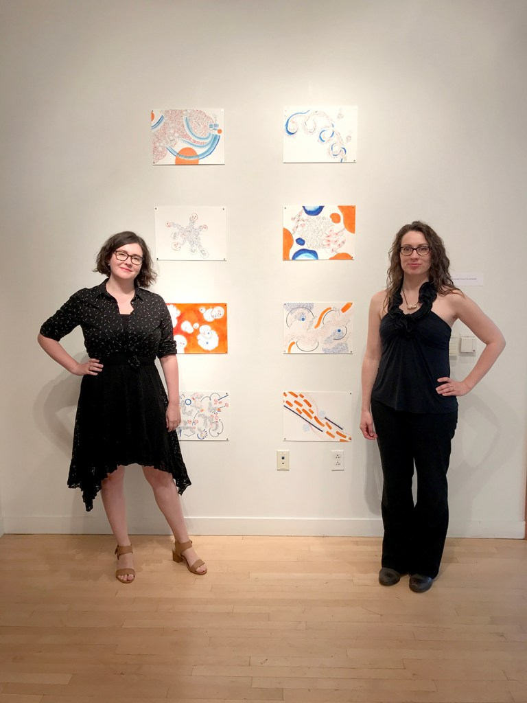 The Artists at the Opening reception, Taplin Gallery May 2017