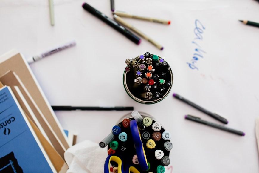 Art Supplies, studio workshop, Taplin Gallery, 2017