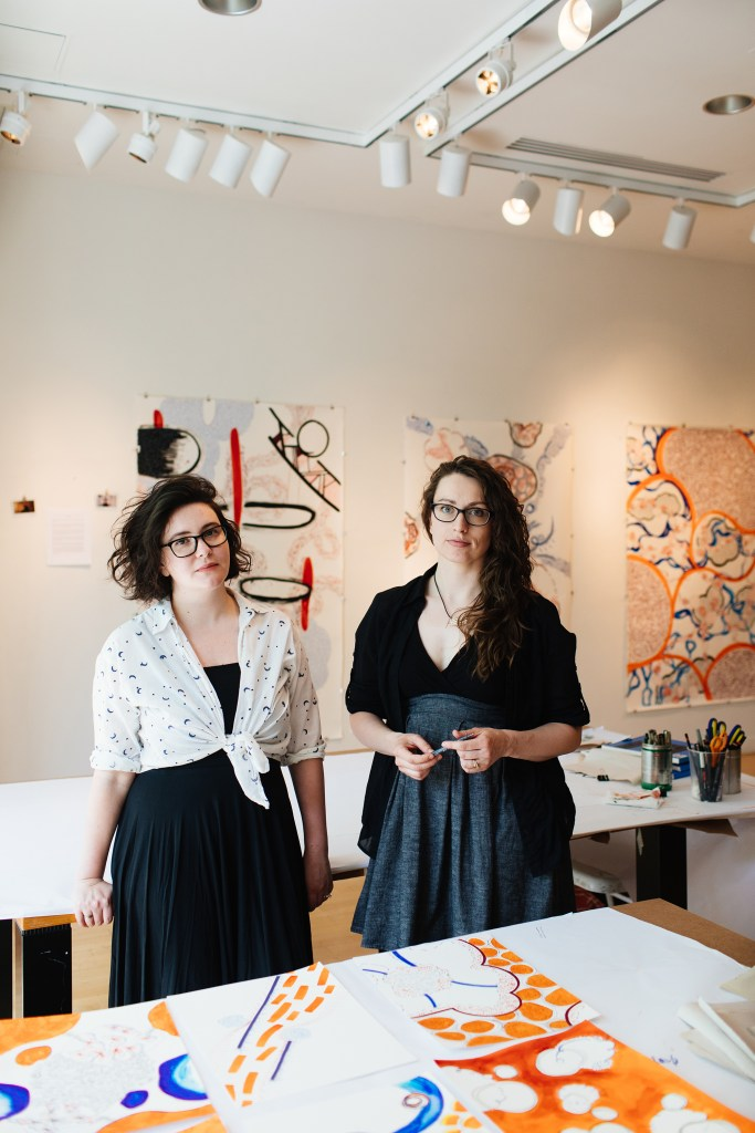 The Artists inside their studio space at the Taplin Gallery, Princeton 2017