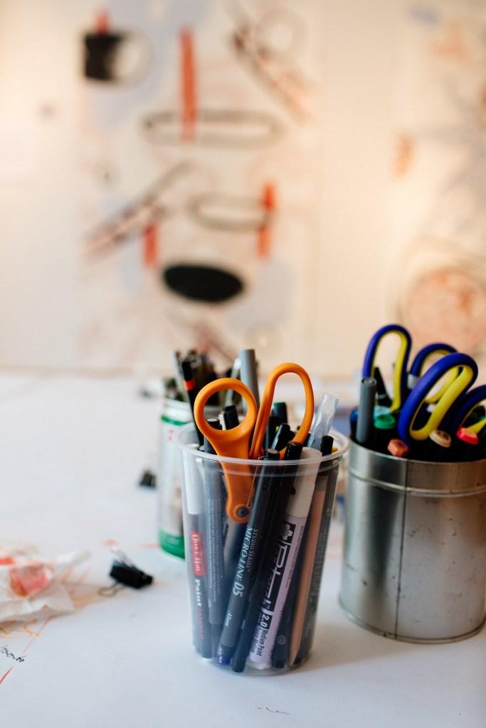 Art Supplies in the Studio, 2017