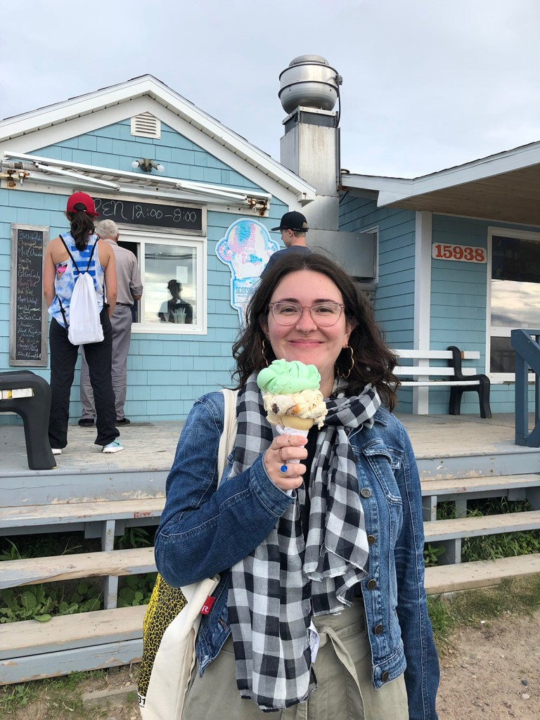 """Fiona and the Inverness """"double scoop""""."""