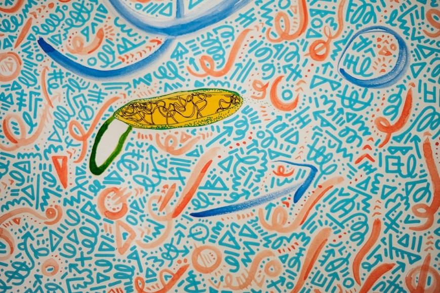 work in progress, detail of Spiralling Life Force
