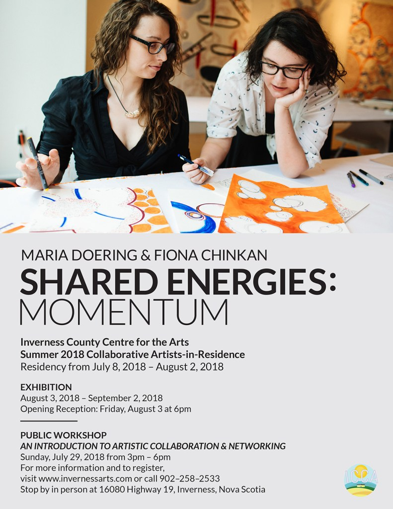 Exhibition Flyer for Shared Energies: Momentum, Inverness 2018