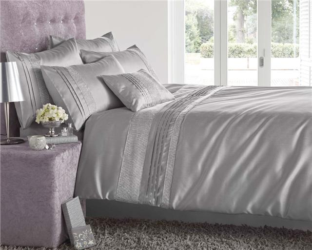NEW LUXURY DIAMANTE BEDDING DUVET COVER BED SETS LINED EYELET CURTAINS EBay