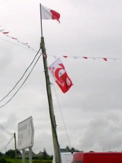 GAA flag of Co. Tyrone in situ. (c) Gordon GILLESPIE