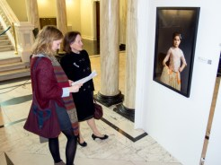Visitors at launch event, Belonging Project exhibition, Belfast City Hall, Northern Ireland (c) Allan LEONARD @MrUlster