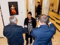 Belonging Photo subject Maria being interviewed (c) Allan LEONARD @MrUlster