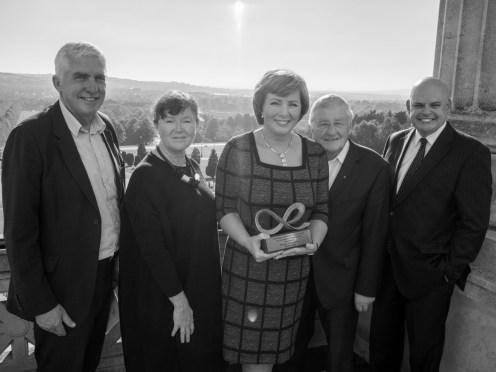 Colin CRAIG, Jacqueline IRWIN, Maureen HETHERINGTON, Rev. Harold GOOD and Peter OSBORNE (c) Allan LEONARD @MrUlster