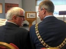 Alistair ADAIR (Ulster University) and Brian KINGSTON (Lord Mayor of Belfast) (c) Allan LEONARD @MrUlster