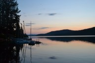 Sunrise Over the Boat Dock
