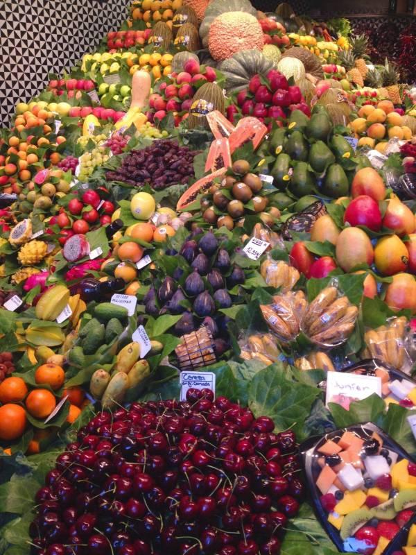 Figs, cherries, prickly pears, you name it, La Boqueria has it.
