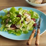 Pan-fried Chicken Salad with Grapes, Almonds & Raspberry Vinegar
