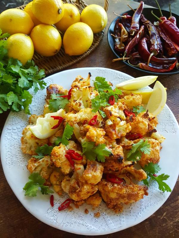 Cauliflower with Spicy Peanut Saucer