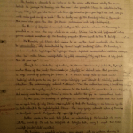 Image of the first marked page of Chris Larham's 'The Remains of the Day' essay ('A-' grading, 2001/2002).