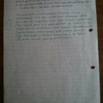 An image of the second marked page of Chris Larham's essay on the characterisation techniques employed by Alice Walker in 'The Color Purple' [17 out of 25, 2000/2001].