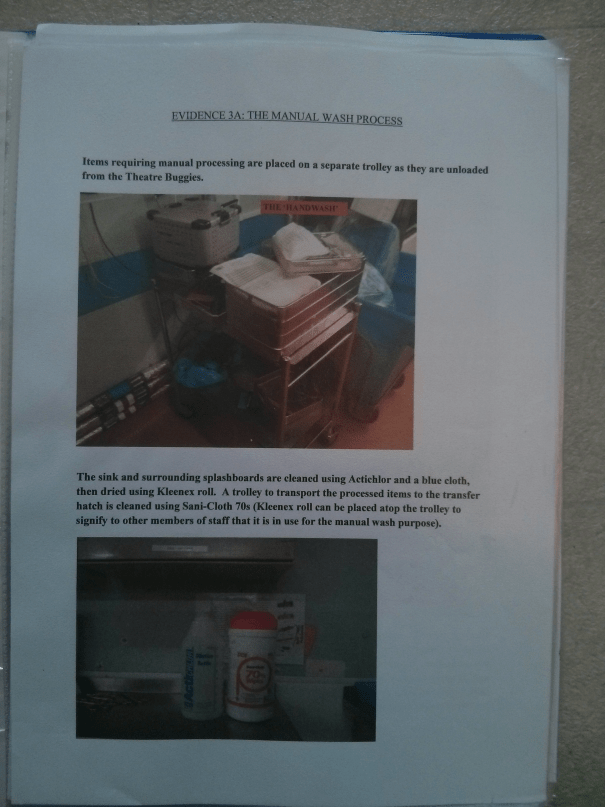 An image of the first page of Evidence 3A, submitted as part of BTEC Unit Three [2015].