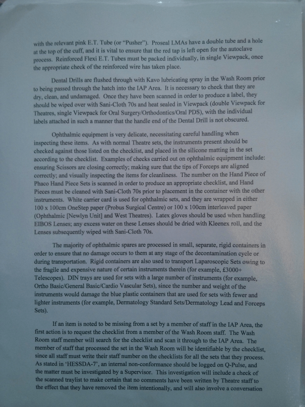An image of the fourth page of the original work submitted for BTEC Unit Four [2015].