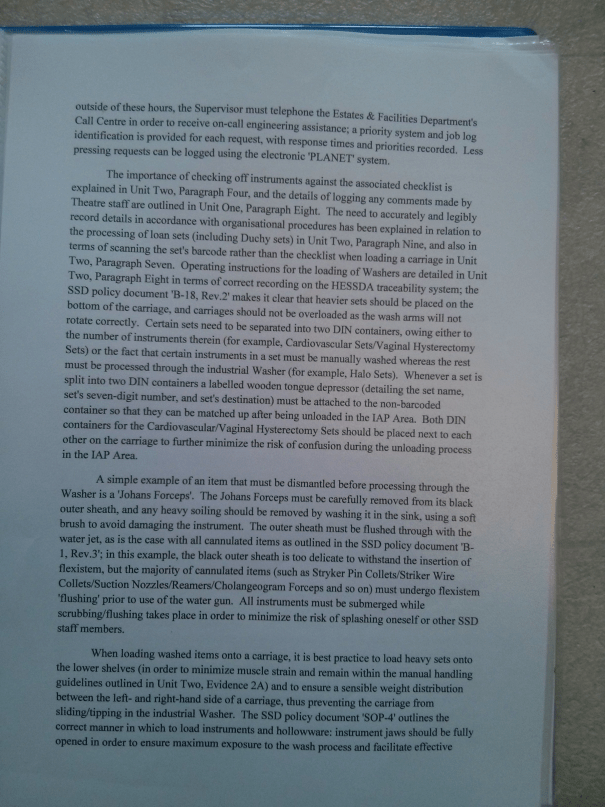 An image of the fifth page of BTEC Unit Three [2015].