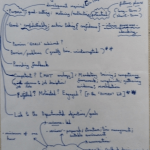 An image of the first page of handwritten notes made by Chris Larham while attending a session entitled 'Performance Development Review - Appraisal', on 30.1.17.