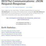 JSON communication between a JavaScript client and a PHP RESTful Web Service.