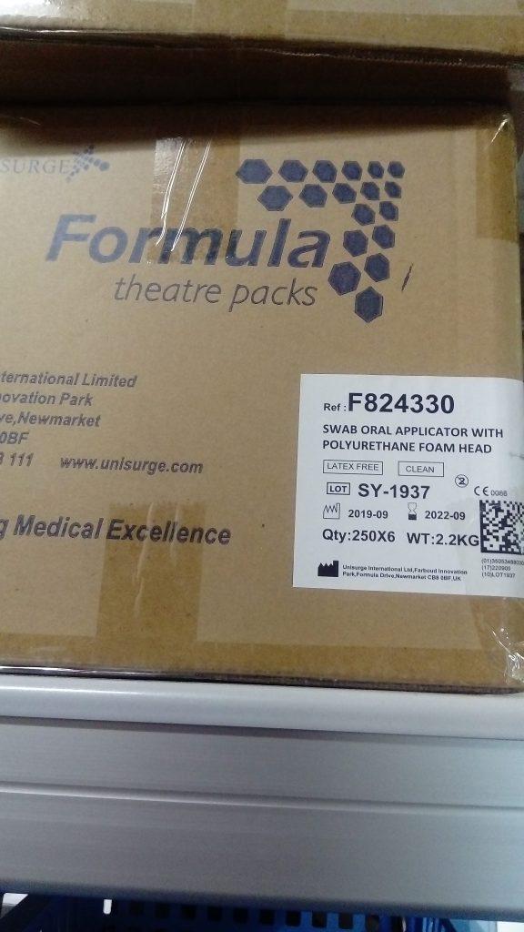 Box of Swab Oral Applicators With Polyurethane Foam Head