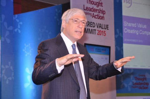 Mark R. Kramer shares his thoughts at the Shared Value Summit