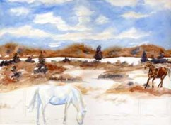 """Winter Horses: SOLD"