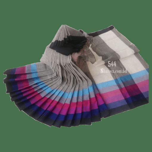 Rainbow Cotton Saree 544