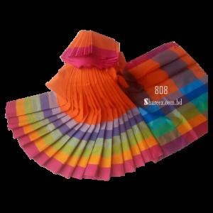 Rainbow Cotton Saree 808