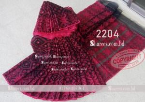 Half Silk Jamdani Saree 2204