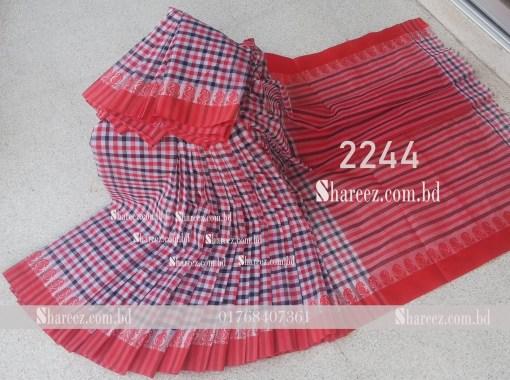 Check Cotton Saree 2244