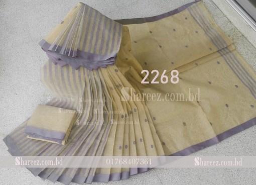Cotton Saree Buti Kaj 2268