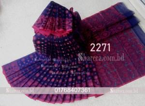Half Silk Jamdani Saree 2271